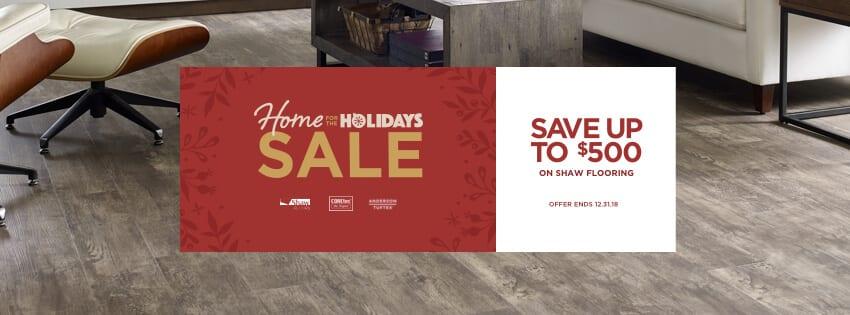 Home for holidays sale banner | Choice Floor Center, Inc.
