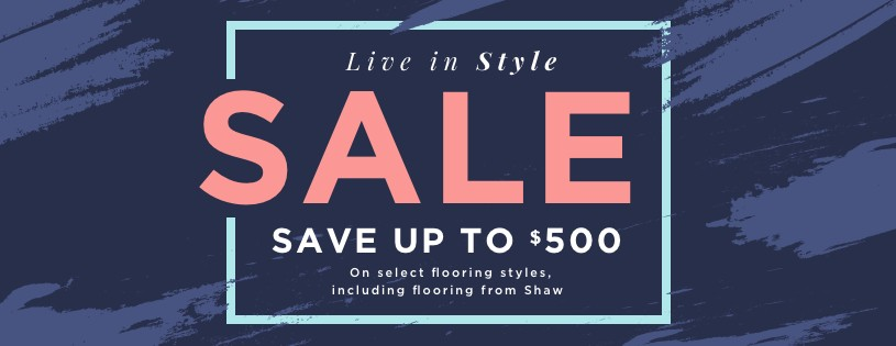 Live in style sale banner | Choice Floor Center, Inc.