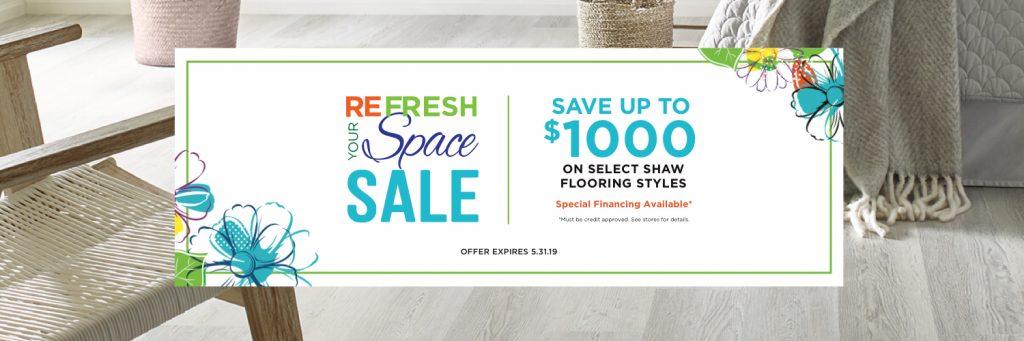 Refresh your space sale | Choice Floor Center, Inc.