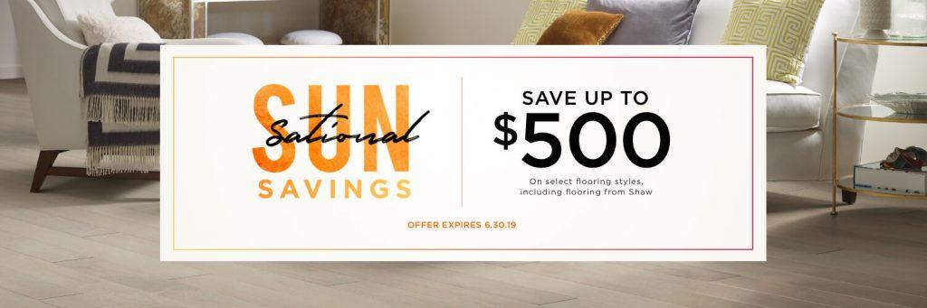 Sun sational savings | Choice Floor Center, Inc.