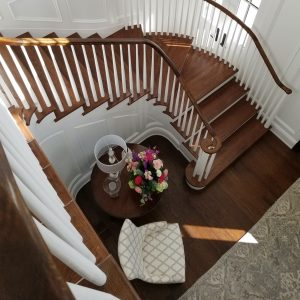 Living room Staircase flooring | Choice Floor Center