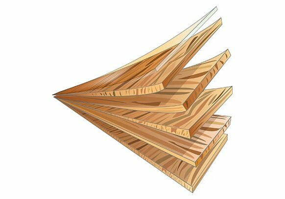 Hardwood engineered illustration | Choice Floor Center, Inc.